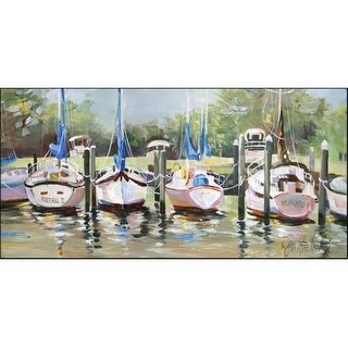 Carolines Treasures JMK1326HRM2858 Sailboats Winward Indoor & Outdoor Runner Mat 28 x 58 in.