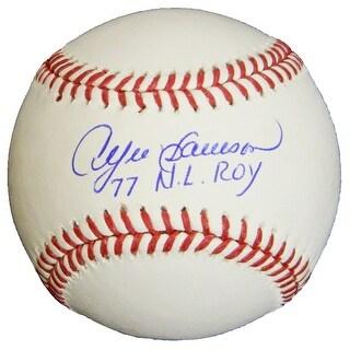 Andre Dawson Signed Rawlings Official MLB Baseball w/77 NL ROY