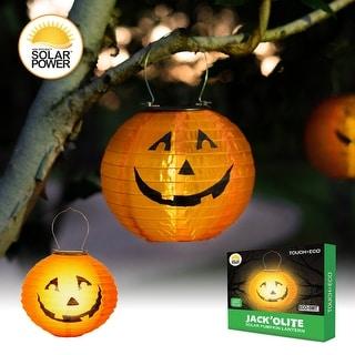 JACK O' LITE Solar Pumpkin LED Lantern - 2 Pack