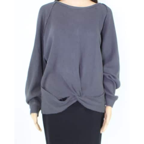 Lamade Womens Knit Top Gray Size Large L Cutout Twist-Front Thermal