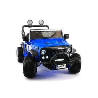 Explorer 12V Kids Ride-On Car Truck with R/C Parental Remote Blue