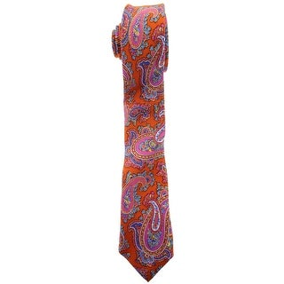 Zara Mens Silk Paisley Neck Tie - M