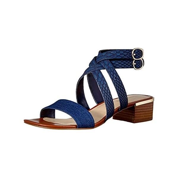 Nine West Womens Yesta Strappy Sandals Open Toe Block Heel