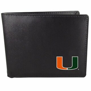 Miami Hurricanes Bi-fold Wallet Black - ID Window Bifold