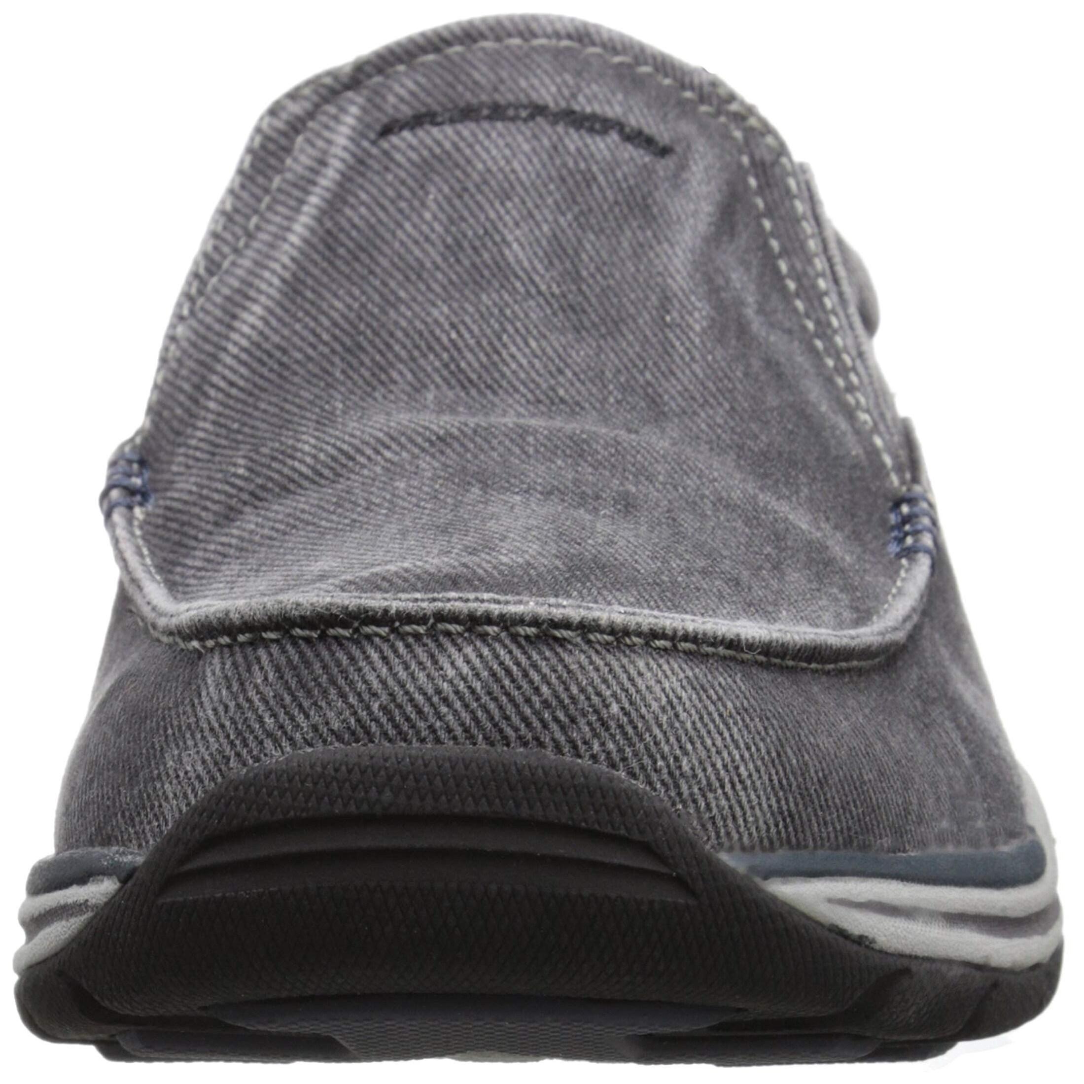 Skechers Usa Men's Expected Avillo Relaxed Fit Slip On Loafer,Black,12 M Us