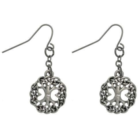 Rhinestone Tree of Life Earrings