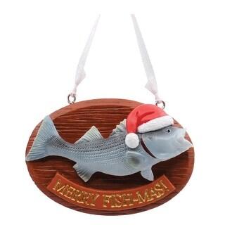 Hallmark 1HAJ1185 Merry Fish-Mas Christmas Tree Ornament, Multicolored