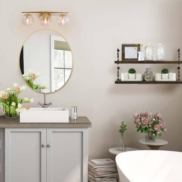 Modern 3 Lights Glass Bathroom Vanity Lights Gold Wall Sconces Lighting L22 X H8 5 X E7 5 L22 X H8 5 X E7 5 Overstock 32047064