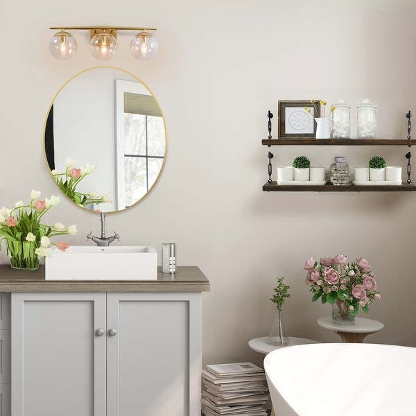 Modern Gold 3 Lights Bathroom Vanity Lighting Wall Sconce For Powder Room 22 7 5 8 5 Overstock 29799389
