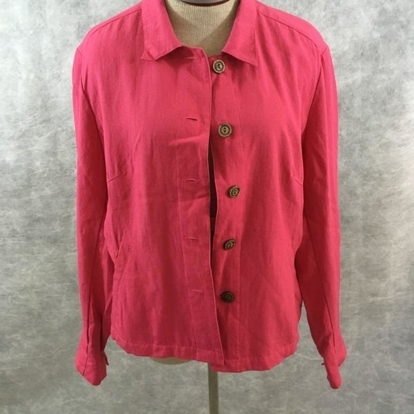 4033d96f Shop Coldwater Creek button blouse top Size PL Petite large pink blazer -  Free Shipping On Orders Over $45 - Overstock - 23004134