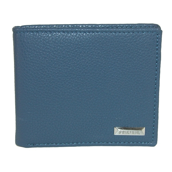 Geoffrey Beene Men's Leather Bifold Wallet with Pebble Grain Finish - One size