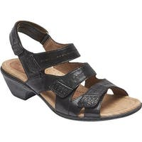 Rockport Women's Cobb Hill Verona Strappy Sandal Black Leather