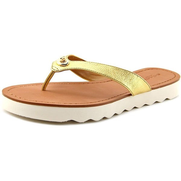 Coach Shelly Women Gold Sandals
