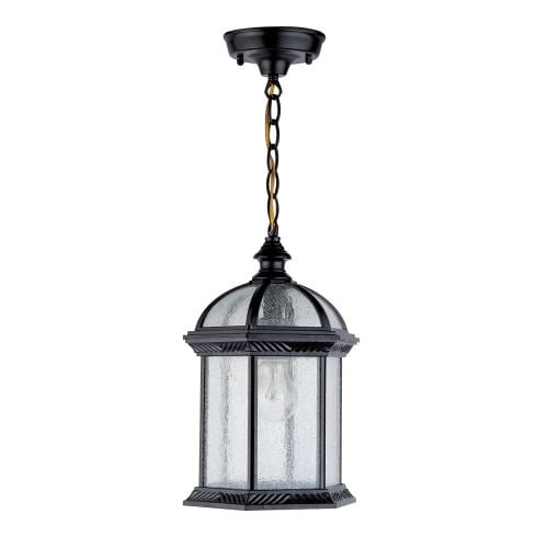 "DVI Lighting OCA1305 1 Light 8"" Chain Hung Lantern from the Hexagon Collection"