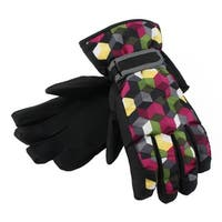 Motorcycle Biking Snowmobile Snowboard Ski Gloves Athletic Mittens Black L