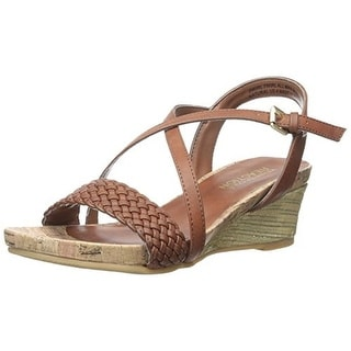 Kenneth Cole Reaction Girls Swirl Twirl Open Toe Woven Wedge Sandals - 5