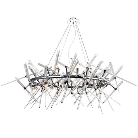 Icicle 12 Light Chandelier with Chrome Finish