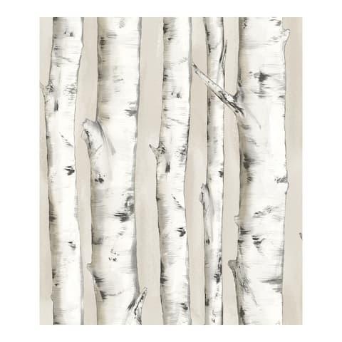 Pioneer Off-White Birch Tree Wallpaper - 20.5 x 396 x 0.025
