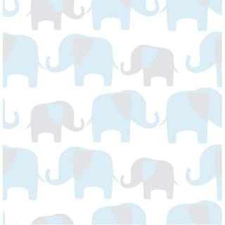 Brewster Elephant Parade Peel and Stick Wallpaper Kids Elephant Parade Wall Pops