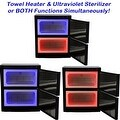 LCL Beauty Black High Capacity Hot Towel Cabinet and Ultraviolet Sterilizer with 48 Towels - Thumbnail 2