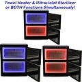 LCL Beauty Black High Capacity Hot Towel Cabinet and Ultraviolet Sterilizer - Thumbnail 3