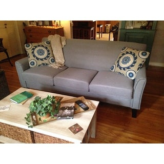 shop uptown modern sofa by inspire q classic on sale free rh overstock com
