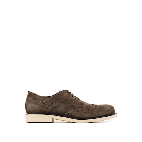 Tod's Men's Dark Brown Leather Brogue Oxford Shoes RTL$650