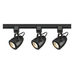 """Nuvo Lighting TK414 3 Light 2-3/4"""" Wide LED H-Track Track Kit - Black - N/A"""