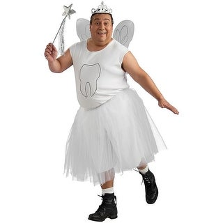 Tooth Fairy Plus Size Adult Costume - White