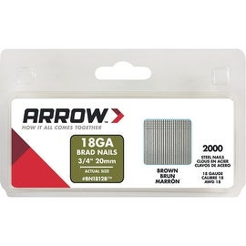 "Arrow 3/4"" Brown Brad"