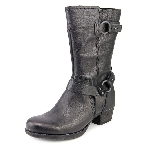 Merrell Shiloh Peak Women  Round Toe Leather Black Mid Calf Boot