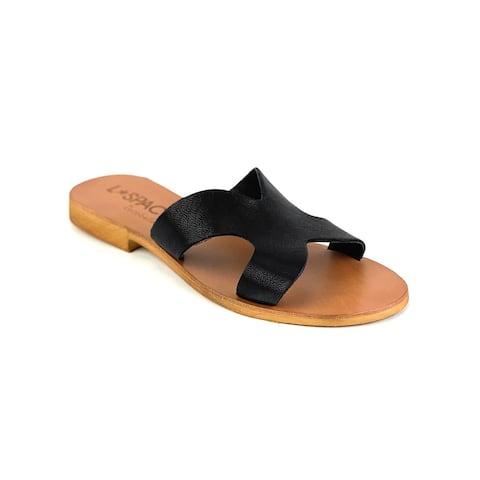 Cocobelle x L*Space Women's Leather Los Slide Sandals Black