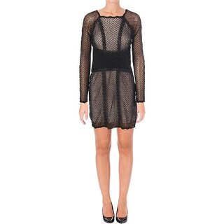 Free People Womens Juniors Party Dress Mixed Mesh Lace