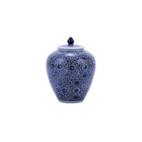 Cluster Flower Small Ginger Decorative Jar
