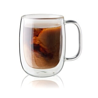 ZWILLING Sorrento Plus 2-pc Double-Wall Glass Coffee Mug Set