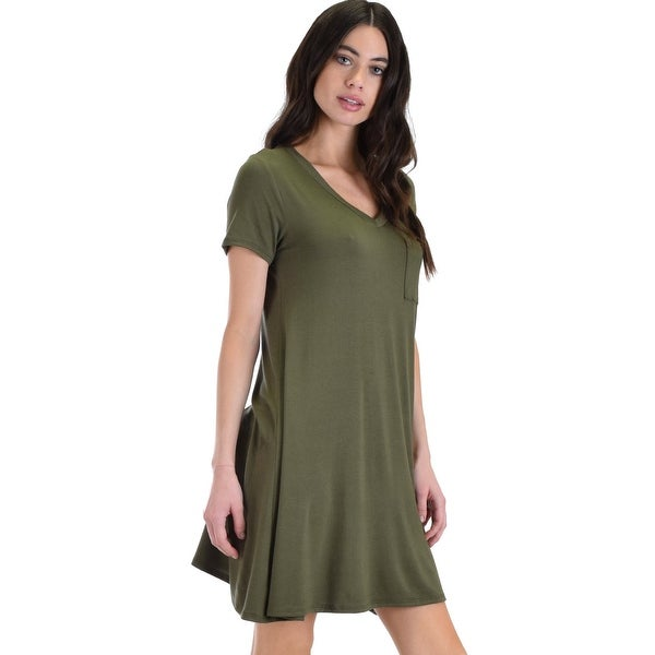 6333930bd458d olive better together shirt tunic dress with pocket-Olive-Small