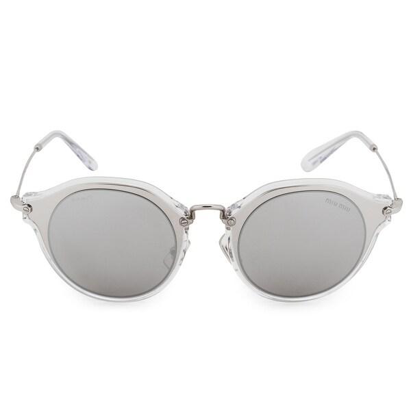 4db3492b983 Shop Miu Miu Round Sunglasses SMU51SS 1BC2B0 49 - On Sale - Free ...
