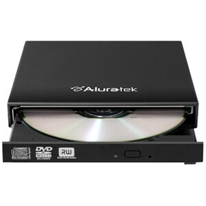 Aluratek - Usb 2.0 External Slim Multi-Format 8X Dvd Writer With Software