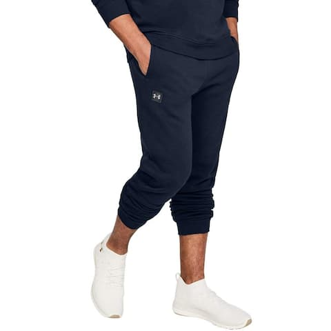 Under Armour Men's Rival Fleece Jogger (Navy, Large)