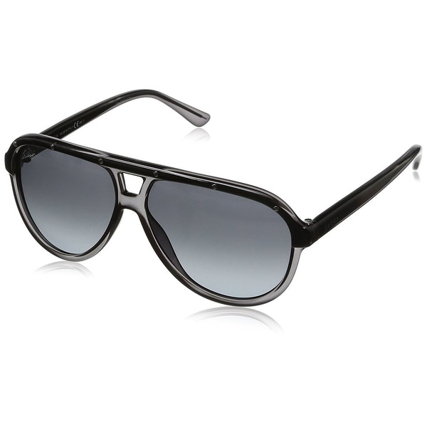 0c8be184fb032 Gucci Unisex Black Metal  amp  Plastic Aviator Sunglasses GG 1058 S CVSBN  337931 -