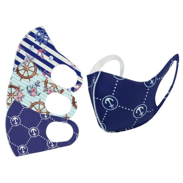Washable Reusable Cloth Face Mask Adult Breathable 3 pcs Pack. Opens flyout.