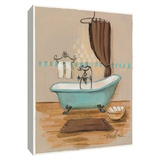 "PTM Images 9-154857  PTM Canvas Collection 10"" x 8"" - ""Pastel Bathroom III"" Giclee Bathroom Art Print on Canvas"