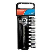 Crescent CSWS11M Socket and Wrench Set, 11 Piece
