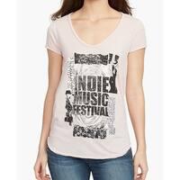 William Rast Pink Women's Size Medium M Indie Music Knit Top