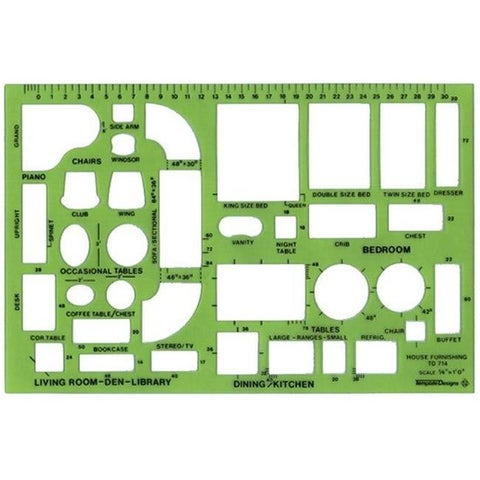 Alvin TD714 Design Templates House Furnishings Template