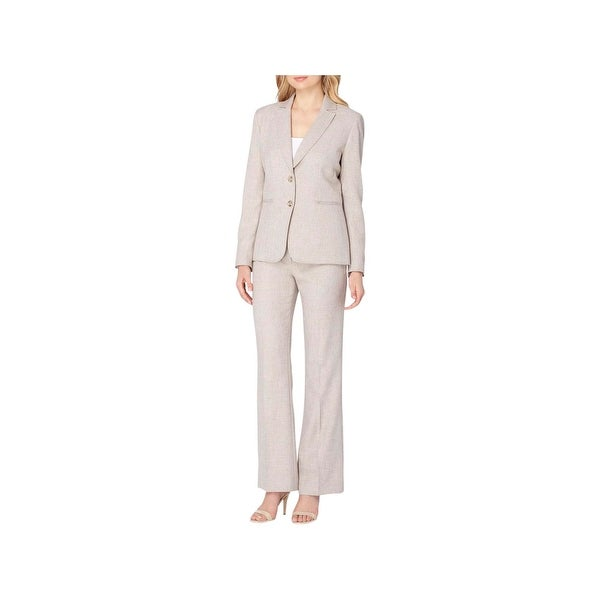 5c8a8aad4228 Shop Tahari ASL Womens Petites Pant Suit 2PC Crosshatch - Free Shipping  Today - Overstock.com - 22740846