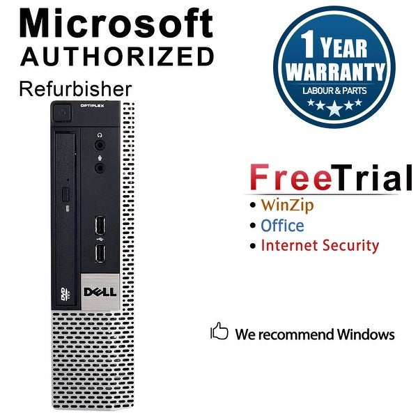 Dell OptiPlex 780 Desktop Computer USFF DC E5300 2.6G 4GB DDR3 160G Windows 10 Pro 1 Year Warranty (Refurbished) - Silver