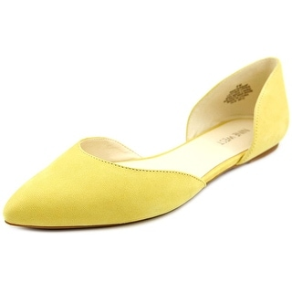 Nine West Starship Women Pointed Toe Leather Yellow Flats