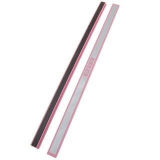 "Unique Bargains 2 Pcs Plastic 12"" Whiteboard Magnetic Stripe School Office Pink Silver Tone"