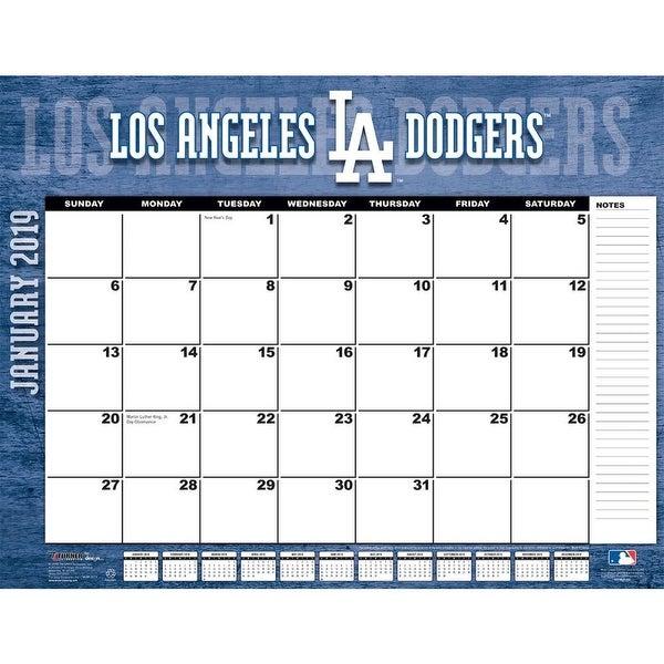 Dodgers Calendar.2019 Mlb Los Angeles Dodgers Desk Pad Los Angeles Dodgers By Turner Licensing